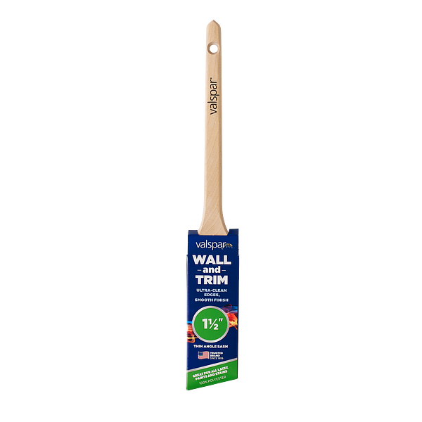 Valspar® Wall and Trim Thin Angle Sash 1.5-in Brush Image