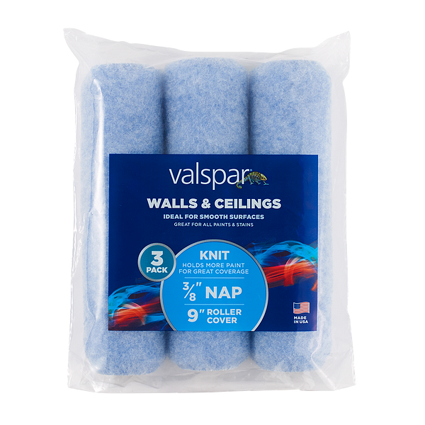 Valspar® Walls and Ceilings 3-Pack 9-in x 3/8-in Knit Roller Cover Image