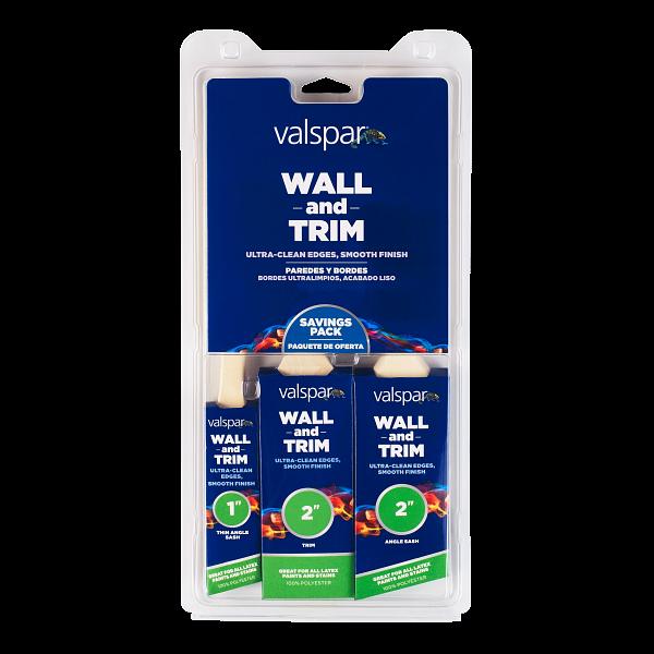 Valspar® Wall and Trim 3-Brush Multi-Pack Image