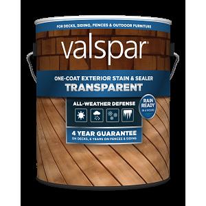 Valspar® One-Coat Transparent Stain & Sealer