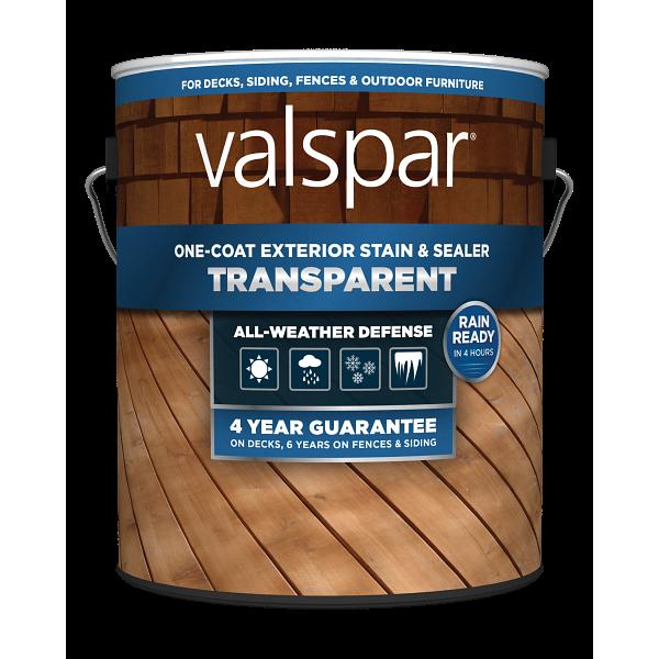 Valspar® One-Coat Transparent Stain & Sealer Image