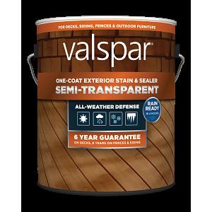Valspar® One-Coat Semi-Transparent Stain & Sealer