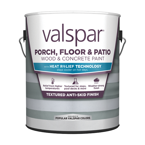 Valspar® Porch, Floor & Patio Anti-Skid Enamel with HEAT RELIEF TECHNOLOGY™ Image