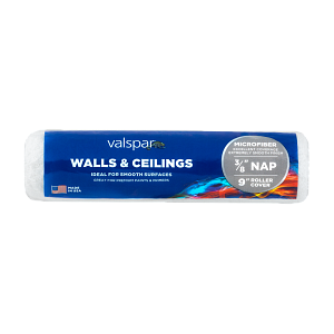 Valspar® 9-in x 3/8-in Walls and Ceilings Microfiber Roller Cover