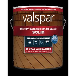 Valspar® One-Coat Solid Stain & Sealer