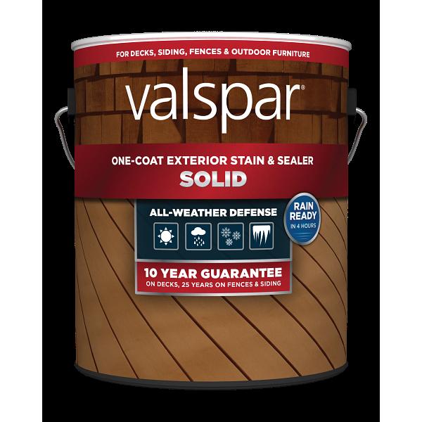 Valspar® One-Coat Solid Stain & Sealer Image
