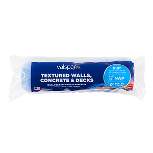 Valspar® 9-in x 1/2-in Textured Walls, Concrete and Decks Knit Roller Cover