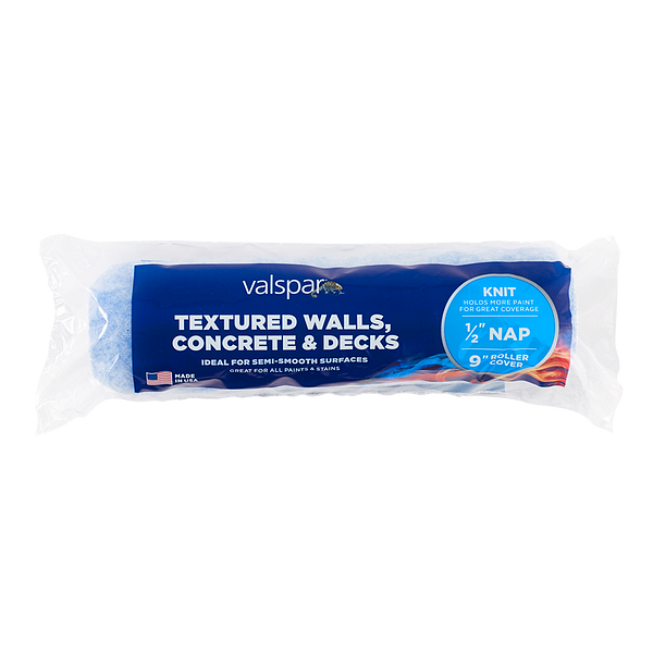 Valspar® 9-in x 1/2-in Textured Walls, Concrete and Decks Knit Roller Cover Image