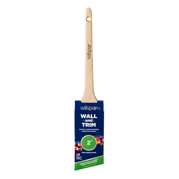 Valspar® Wall and Trim Thin Angle Sash 2-in Brush Image