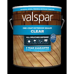 Valspar® One-Coat Clear Exterior Sealer